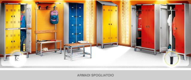 Armadi Metallici Per Spogliatoio.Amerigo Missaglia Produzione Arredi Metallici Armadi Spogliatoio